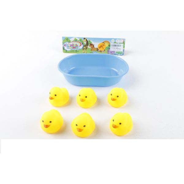 Набор из 6-и уток-пищалок для купанияИгрушки для ванной<br>Набор из 6-и уток-пищалок для купания<br>