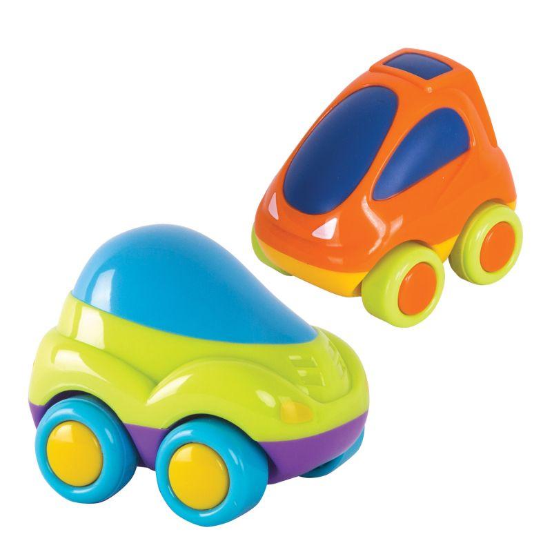 Набор из 2 гоночных машин, зеленая и оранжеваяМашинки для малышей<br>Набор из 2 гоночных машин, зеленая и оранжевая<br>