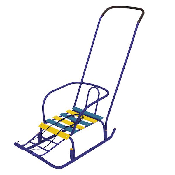 Санки детские Ветерок 3, цвет - синийСанки и сани-коляски<br>Санки детские Ветерок 3, цвет - синий<br>