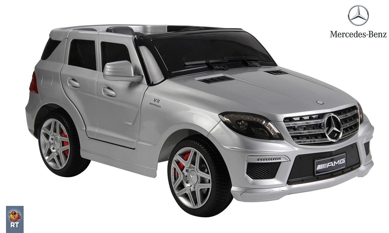 Электромобиль RT ML63 Mercedes-Bens AMG, silver с резиновыми колесамиЭлектромобили, детские машины на аккумуляторе<br>Электромобиль RT ML63 Mercedes-Bens AMG, silver с резиновыми колесами<br>