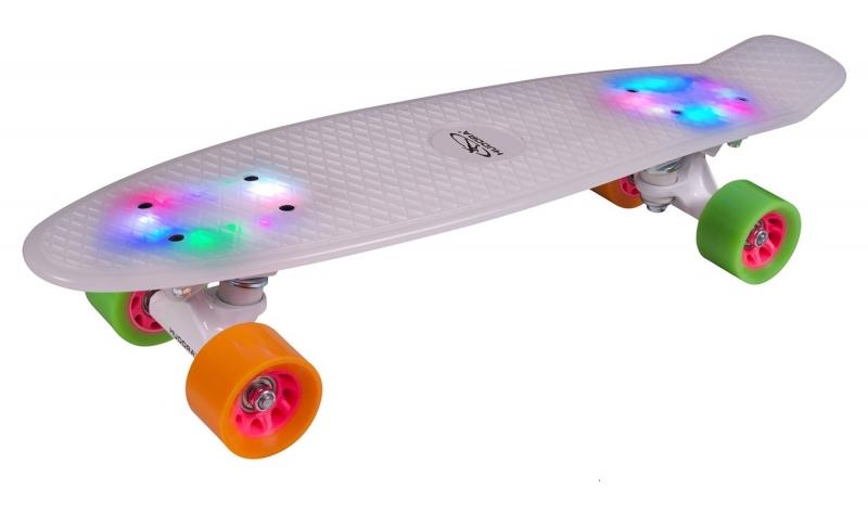 Купить Скейтборд Retro Rainglow, подшипники Abec 5, Hudora