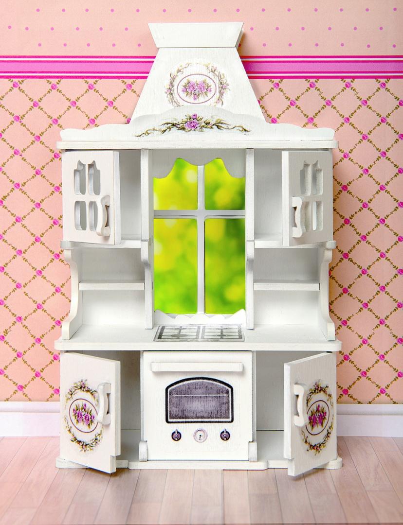 Набор мебели для кукольного дома – Кухня: система шкафов с плитой и духовкой, коллекция Прованс, ЯиГрушка  - купить со скидкой