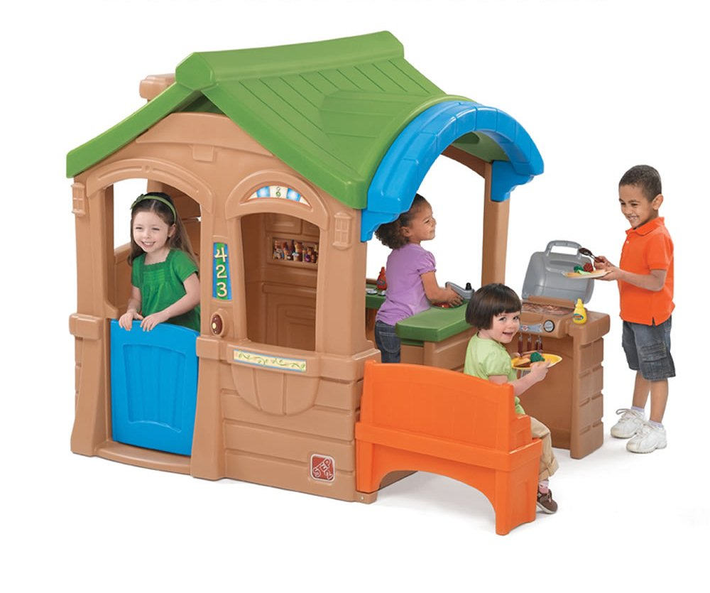 Домик с грилем - Пластиковые домики для дачи, артикул: 160845