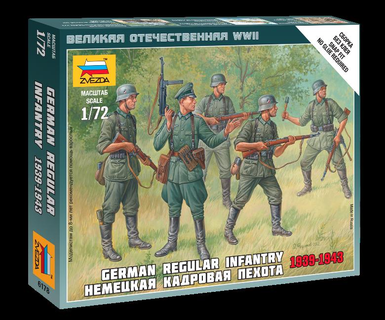 Модель сборная - Немецкая кадровая пехотаФигурки<br>Модель сборная - Немецкая кадровая пехота<br>