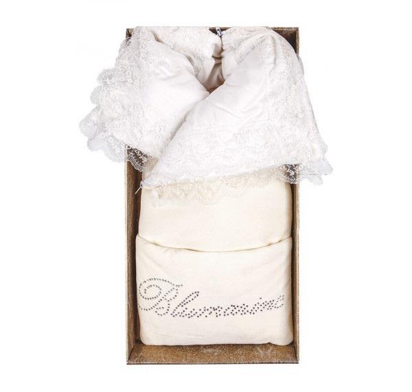 Комплект на выписку из серии ПД-704 с конвертом и костюмом, цвет – молочныйКомплекты на выписку<br>Комплект на выписку из серии ПД-704 с конвертом и костюмом, цвет – молочный<br>