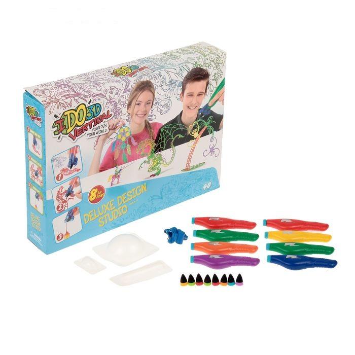3D-ручка с 8 картриджами  Вертикаль  Дизайн студия - Детский 3D принтер QIXELS, артикул: 165859