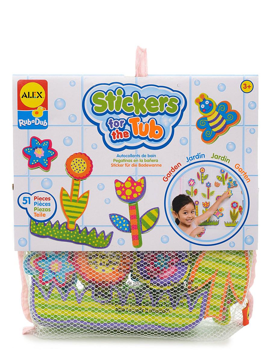 Набор фигурок-стикеров для ванны — Сад, в сетке, 51 детальСтикеры для ванны<br>Набор фигурок-стикеров для ванны — Сад, в сетке, 51 деталь<br>