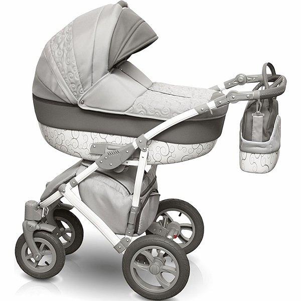 Детская коляска Camarelo Figaro 2 в 1, сераяДетские коляски 2 в 1<br>Детская коляска Camarelo Figaro 2 в 1, серая<br>