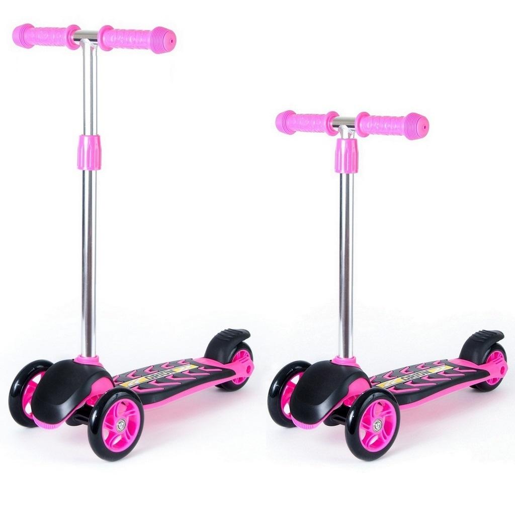 Купить Детский трехколесный самокат розового цвета RT ORION MIDI 164A