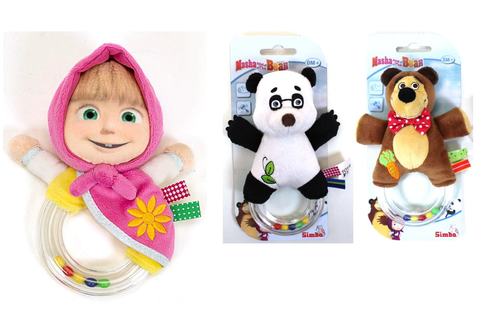 Погремушка «Маша и Медведь», 3 видаДетские погремушки и подвесные игрушки на кроватку<br>Погремушка «Маша и Медведь», 3 вида<br>