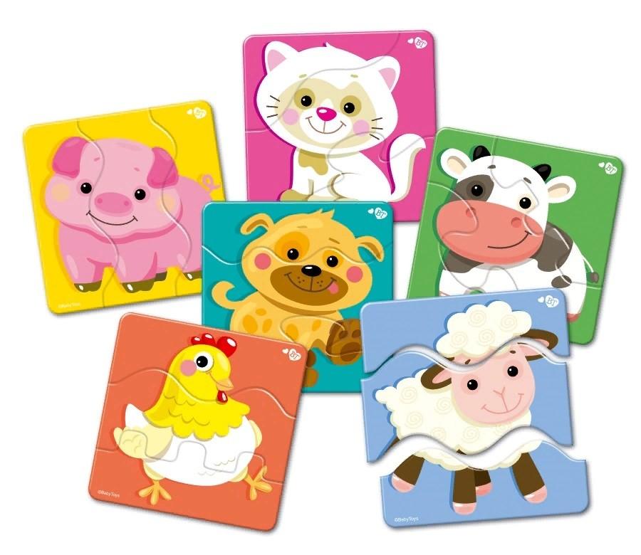 Купить Пазлы-макси Зигзаг - Baby Toys. Домашние животные, 18 элементов, Десятое королевство
