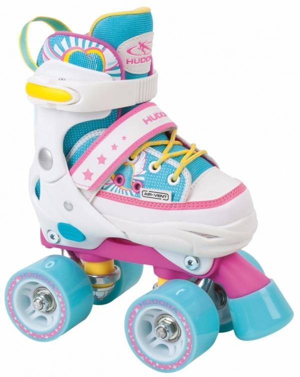 Купить Ролики Skate Wonders, размер 32-35, цвет – Розовый/Голубой, Hudora