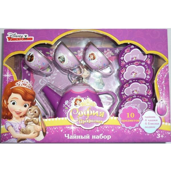 Набор посуды «Принцесса София», металлическая, 10 предметовАксессуары и техника для детской кухни<br>Набор посуды «Принцесса София», металлическая, 10 предметов<br>