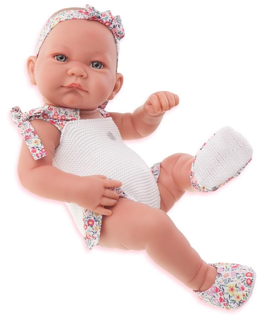 Кукла-младенец Ника в белом, 42 см.Куклы Антонио Хуан (Antonio Juan Munecas)<br>Кукла-младенец Ника в белом, 42 см.<br>