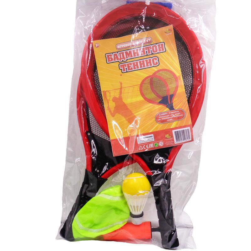 Набор - Теннис, 6 предметов, в пакетеБаскетбол, бадминтон, теннис<br>Набор - Теннис, 6 предметов, в пакете<br>