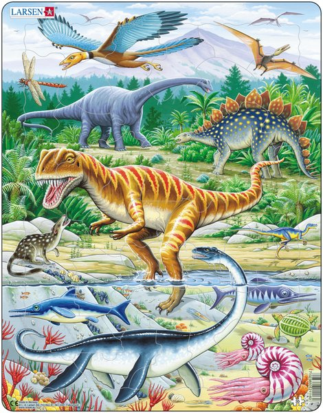 Купить Пазл – Динозавры, 35 элементов, Larsen