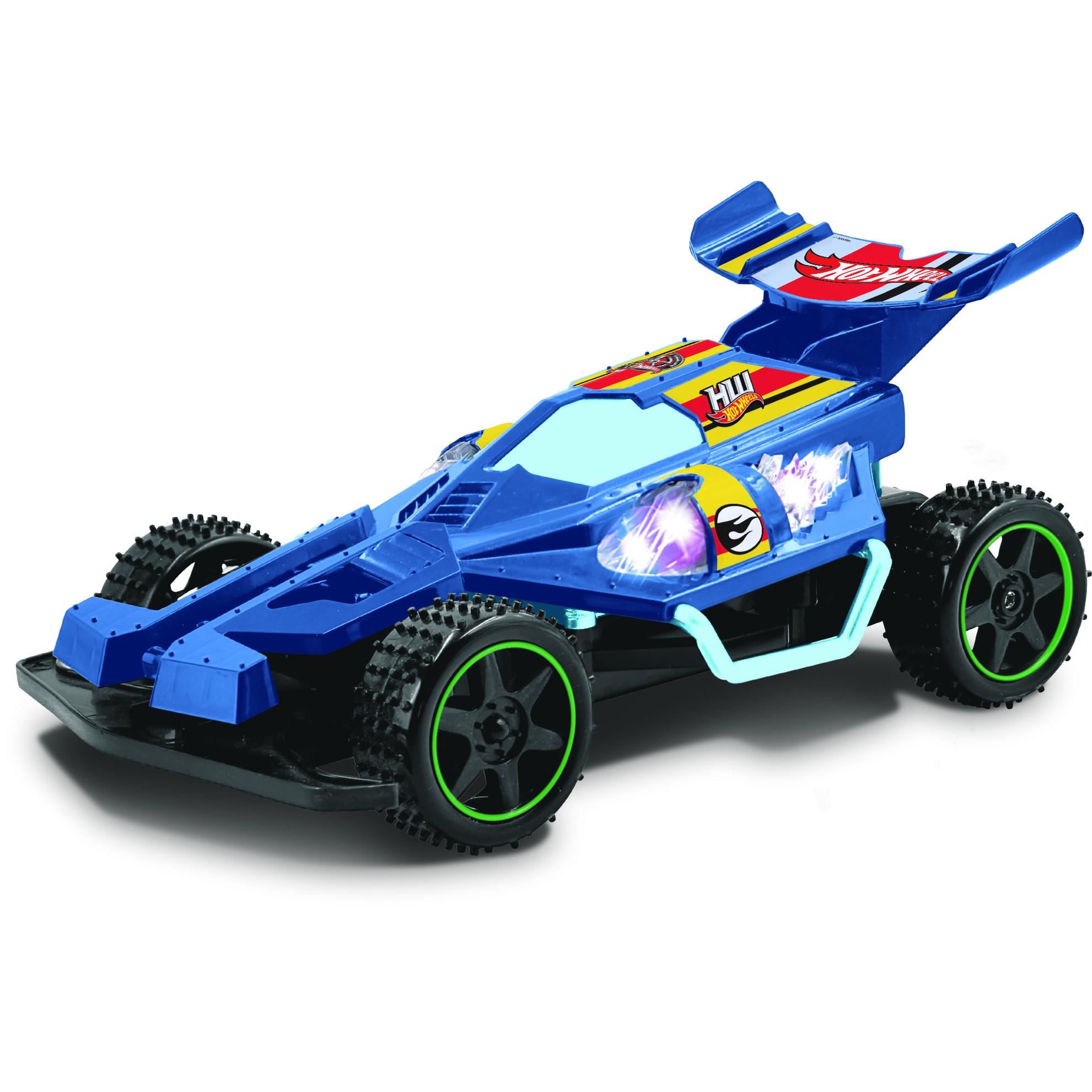 картинка Машинка на р/у Hot Wheels - багги, синий, масштаб 1:18, со светом от магазина Bebikam.ru