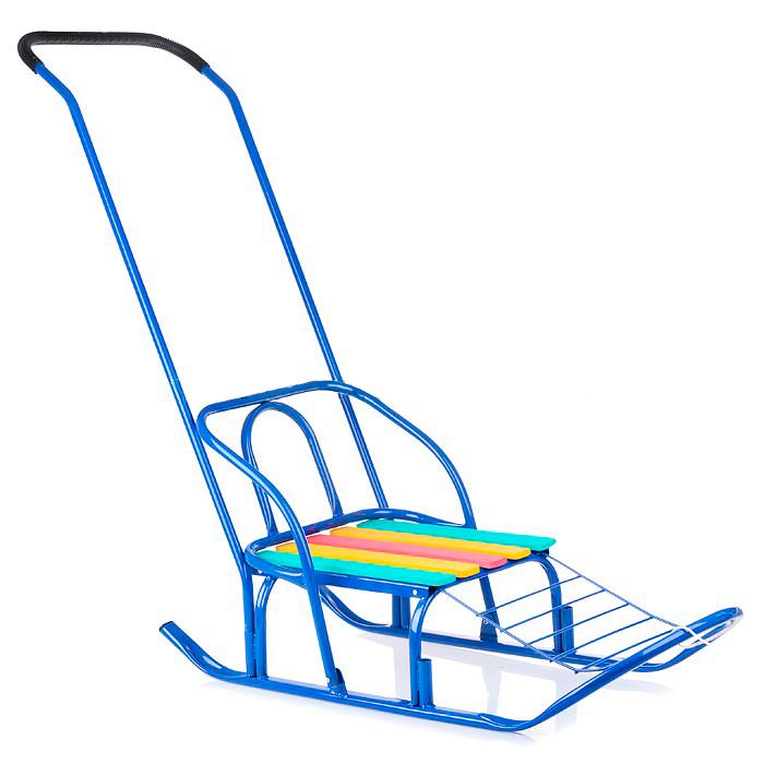 Санки - Кирюша-7, синиеСанки и сани-коляски<br>Санки - Кирюша-7, синие<br>