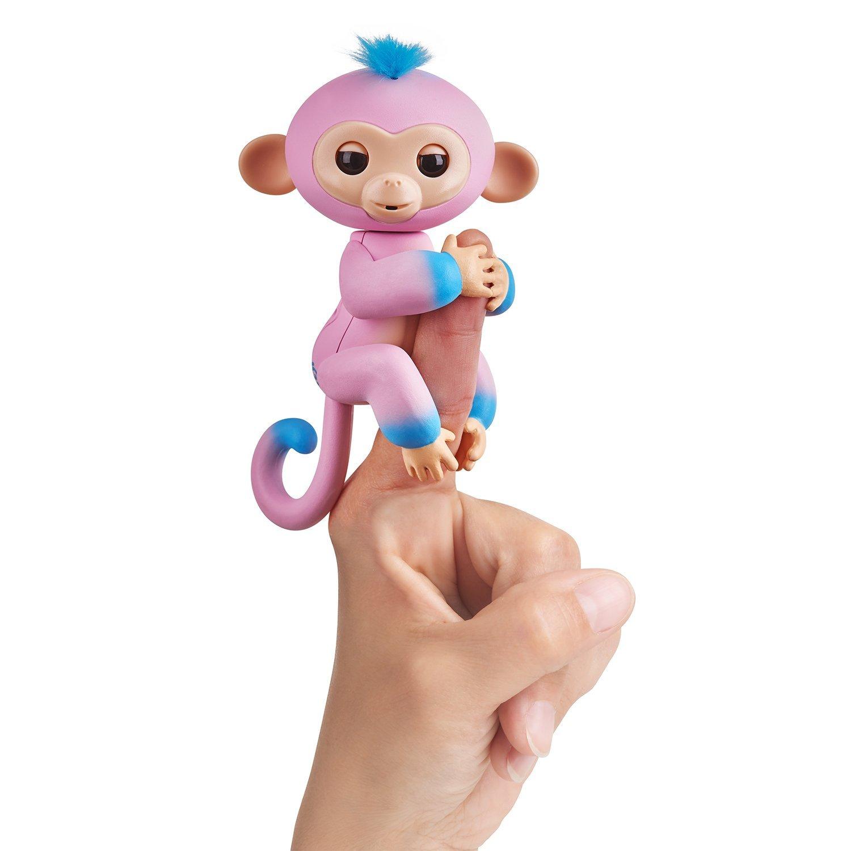 Интерактивная обезьянка Канди, цвет - розовая и голубая, 12 см.Интерактивные обезьянки Fingerlings<br>Интерактивная обезьянка Канди, цвет - розовая и голубая, 12 см.<br>