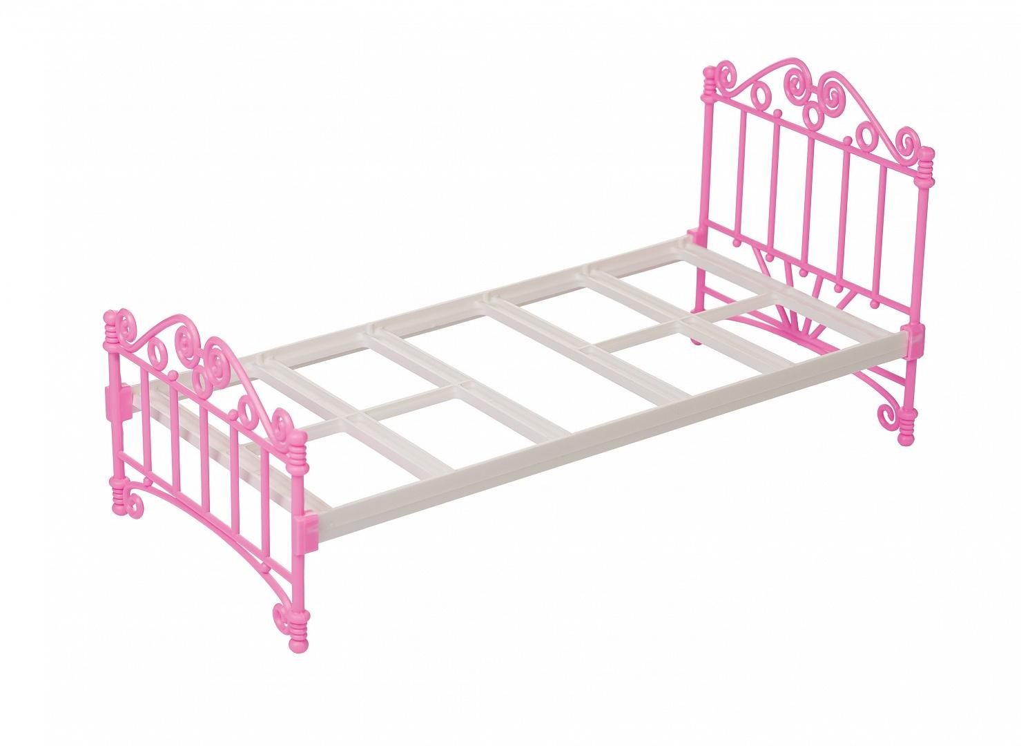 Кроватка для куклы, розоваяДетские кроватки для кукол<br>Кроватка для куклы, розовая<br>
