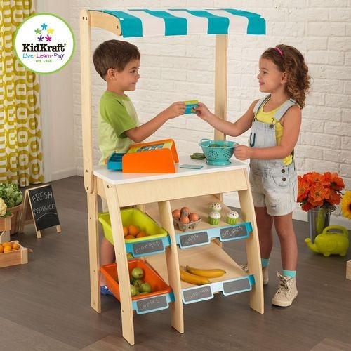 Деревянная игрушечная торговая площадка – Бакалея - с кассовым аппаратомДетская игрушка Касса. Магазин. Супермаркет<br>Деревянная игрушечная торговая площадка – Бакалея - с кассовым аппаратом<br>