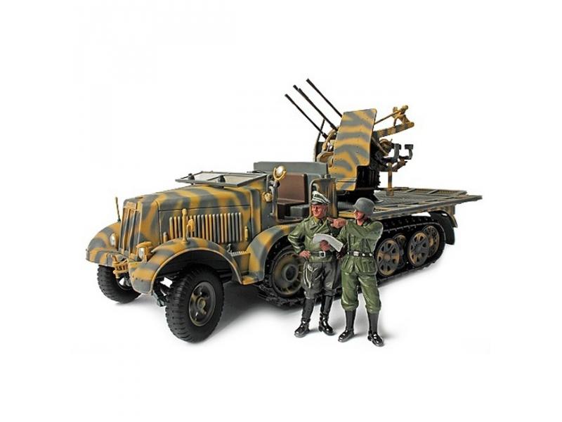 Коллекционная модель - легкое зенитное орудие Sd. Kfz. 7/1 mit 2 cм Flakvierling 38 1943, Германия, 1:32Военная техника<br>Коллекционная модель - легкое зенитное орудие Sd. Kfz. 7/1 mit 2 cм Flakvierling 38 1943, Германия, 1:32<br>