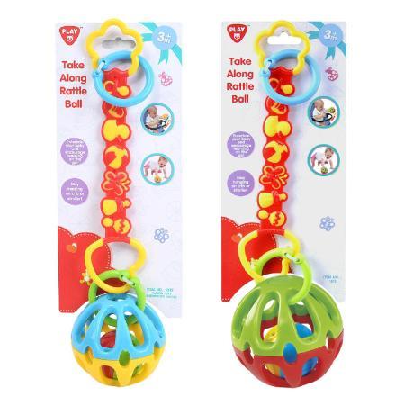 Развивающая игрушка - подвеска - Мяч-погремушкаРазвивающая дуга. Игрушки на коляску и кроватку<br>Развивающая игрушка - подвеска - Мяч-погремушка<br>