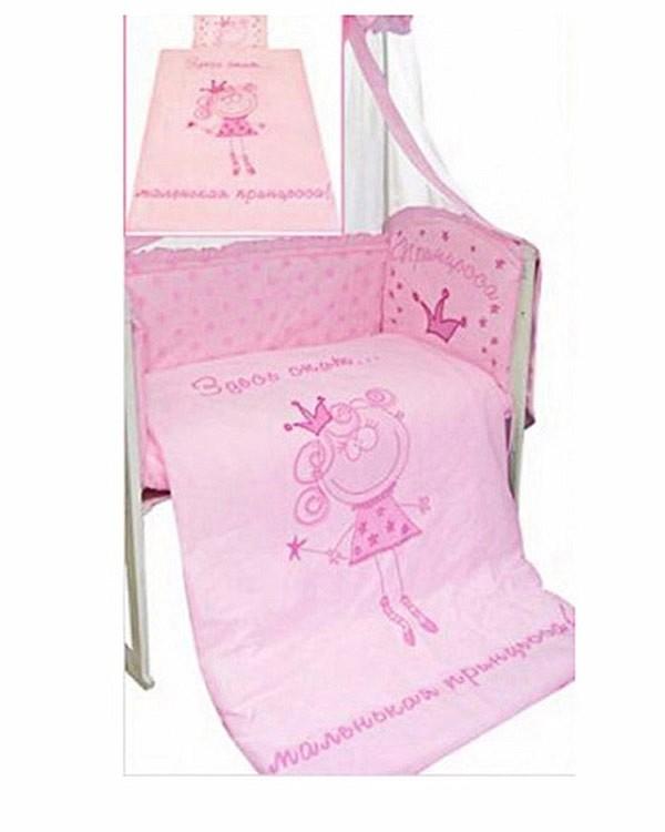 Комплект - Растём весело, розовыйДетское постельное белье<br>Комплект - Растём весело, розовый<br>