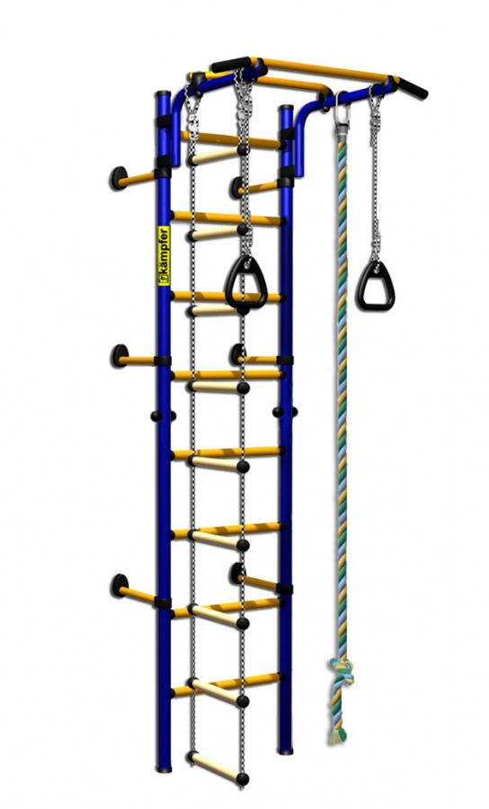 Детский спортивный комплекс Kampfer Strong Kid Wall, сине-желтый ДСКМ-2С-8.06.Г1.490.01-14