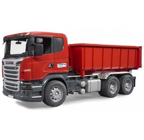 Bruder  Scania самосвал-контейнеровозГрузовики, самосвалы, лесовозы<br>Bruder  Scania самосвал-контейнеровоз<br>