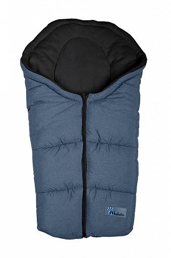 Зимний конверт Alpin Pram & Car seat, dark grey/black Altabebe