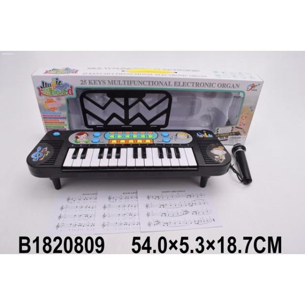 Синтезатор на батарейках, 25 клавиш, с микрофоном 8814A фото