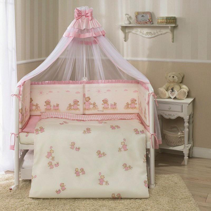 Комплект постельного белья Тиффани, розовыйДетское постельное белье<br>Комплект постельного белья Тиффани, розовый<br>