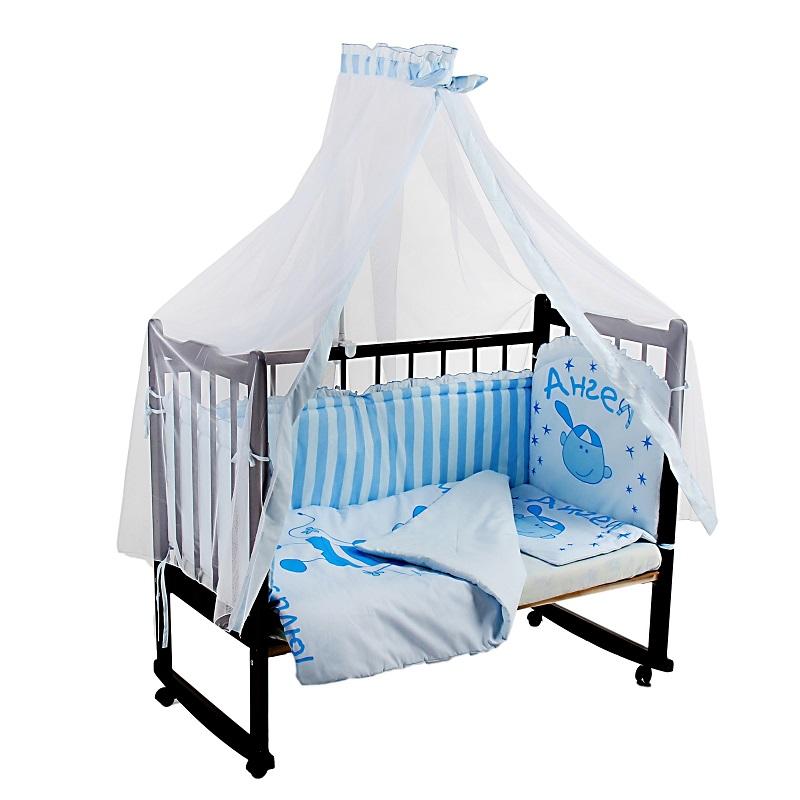 Комплект - Растем весело, голубойДетское постельное белье<br>Комплект - Растем весело, голубой<br>