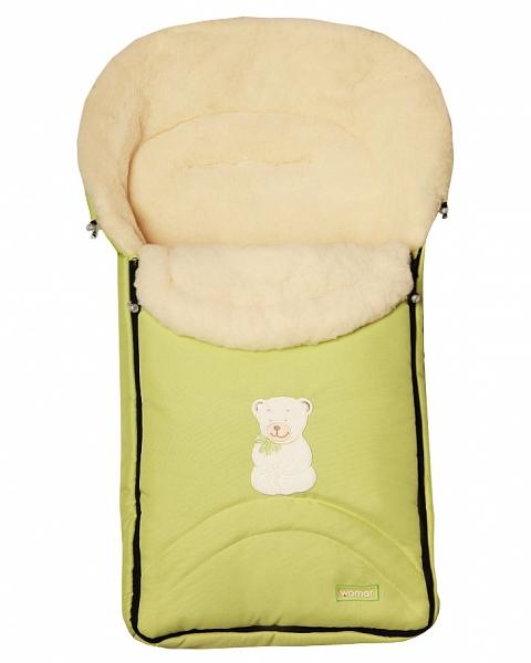 Спальный мешок в коляску №07 - North pole, салатовыйЗимние конверты<br>Спальный мешок в коляску №07 - North pole, салатовый<br>