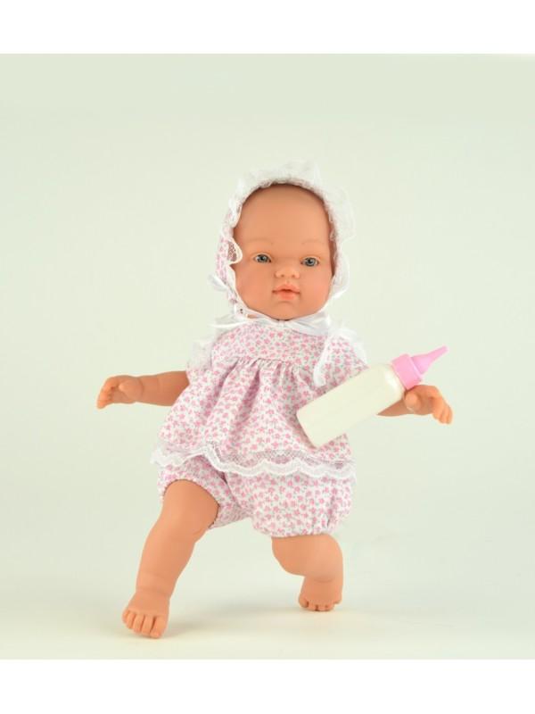 Кукла Гугу с бутылочкой, 27 см.Куклы ASI (Испания)<br>Кукла Гугу с бутылочкой, 27 см.<br>