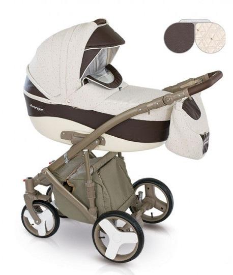 Детская коляска Camarelo Avenger Lux 2 в 1, бежево-коричневаяДетские коляски 2 в 1<br>Детская коляска Camarelo Avenger Lux 2 в 1, бежево-коричневая<br>