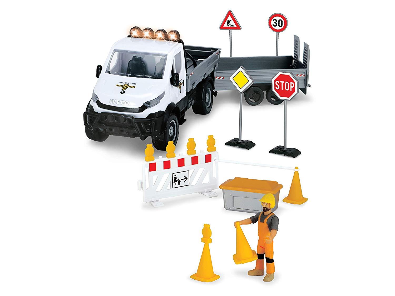 Набор Ремонт дороги с дорожными знаками Playlife, свет и звук, 19 предметов, 41,5 см. фото