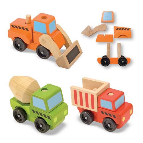 Конструктор - Строительный транспорт из серии Классические игрушкиКубики<br>Конструктор - Строительный транспорт из серии Классические игрушки<br>