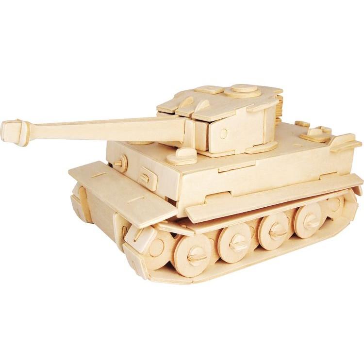 Модель деревянная сборная - Тигр МК-1Пазлы объёмные 3D<br>Модель деревянная сборная - Тигр МК-1<br>