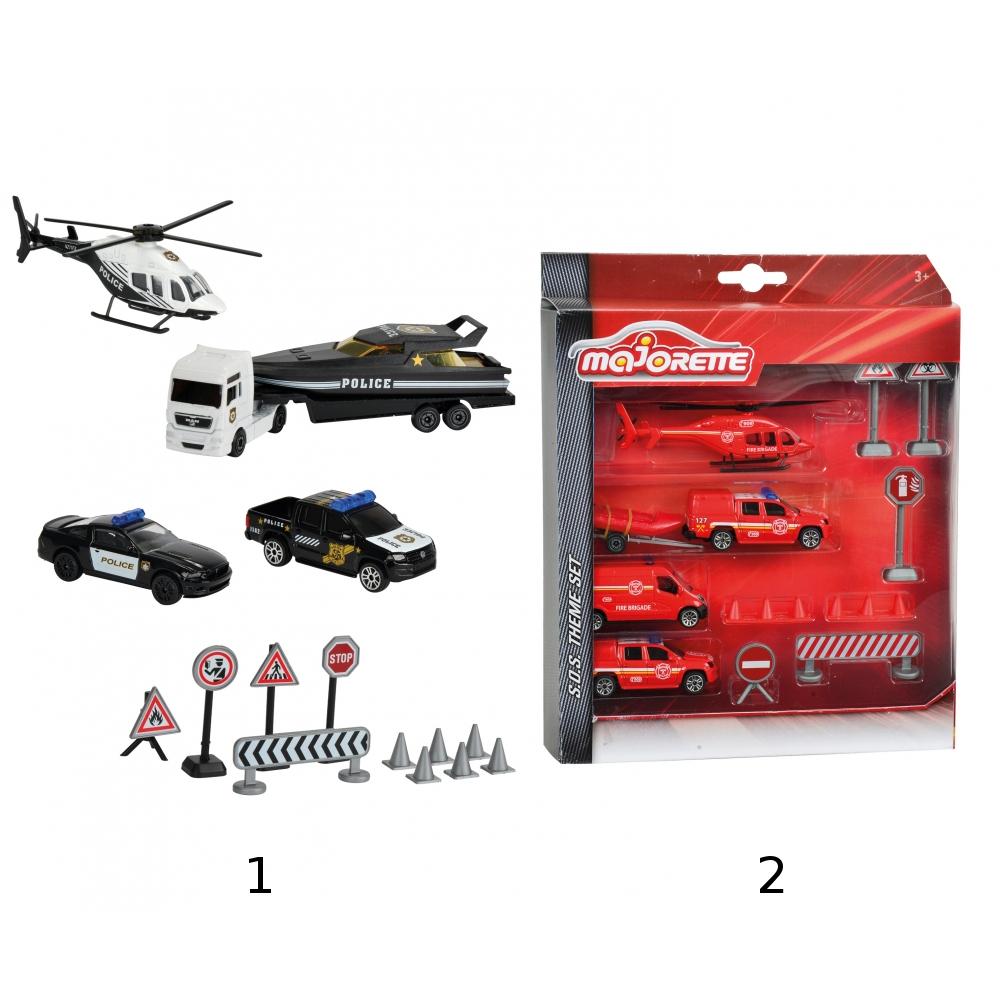 Набор спасательных машин и дорожных знаков - Самолеты, службы спасения, артикул: 157587