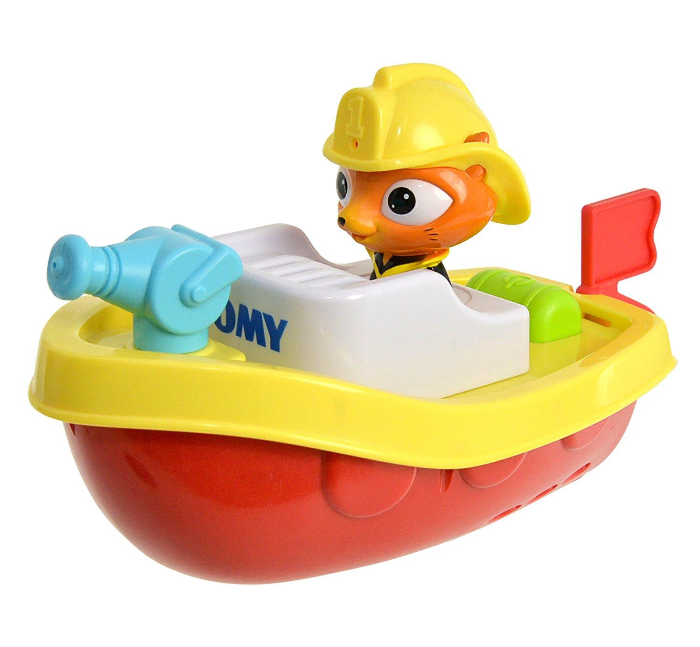 Купить Игрушка для ванной - Пожарный катер на пульте д/у, Tomy