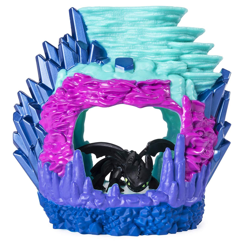 Купить Игровой набор Как приручить дракона-3 - Беззубик в пещере, свет, Spin Master
