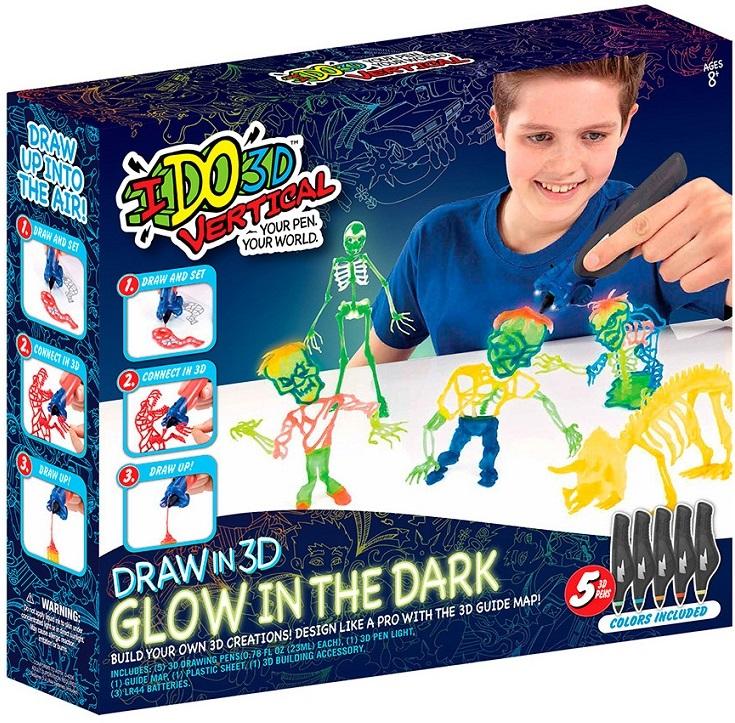 3D ручка – Вертикаль. Магия света, 5 ручек с пастой, светящейся в темноте, Зомби3D ручки<br>3D ручка – Вертикаль. Магия света, 5 ручек с пастой, светящейся в темноте, Зомби<br>