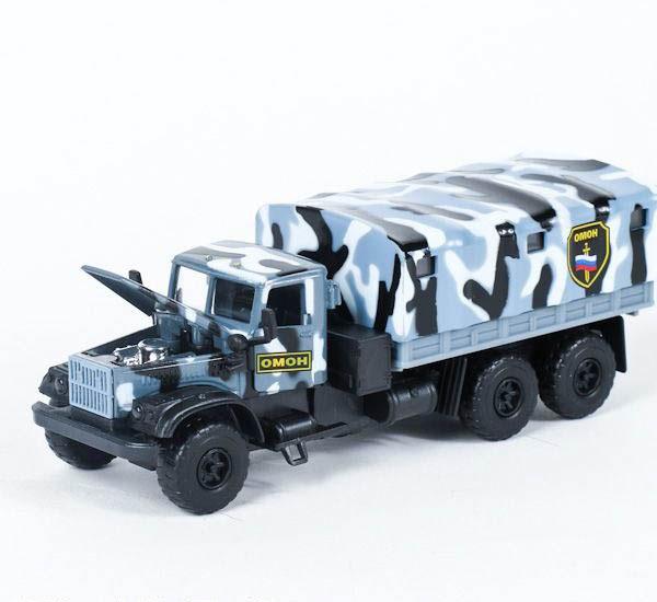 Купить Машина металлическая инерционная - КРАЗ - ОМОН, со световыми и звуковыми эффектами, Технопарк