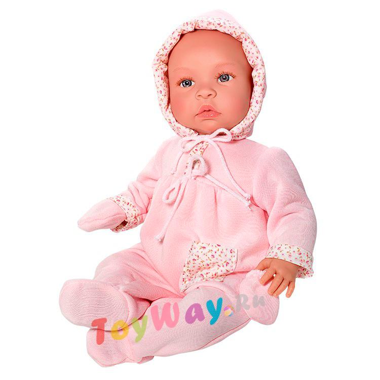 Кукла Лео в розовом костюмчике, 46 см.Куклы ASI (Испания)<br>Кукла Лео в розовом костюмчике, 46 см.<br>