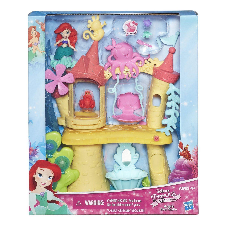 Disney Princess. Игрушка для игры с водой. Замок АриэльКуклы Disney: Ариэль, Золушка, Белоснежка, Рапунцель<br>Disney Princess. Игрушка для игры с водой. Замок Ариэль<br>