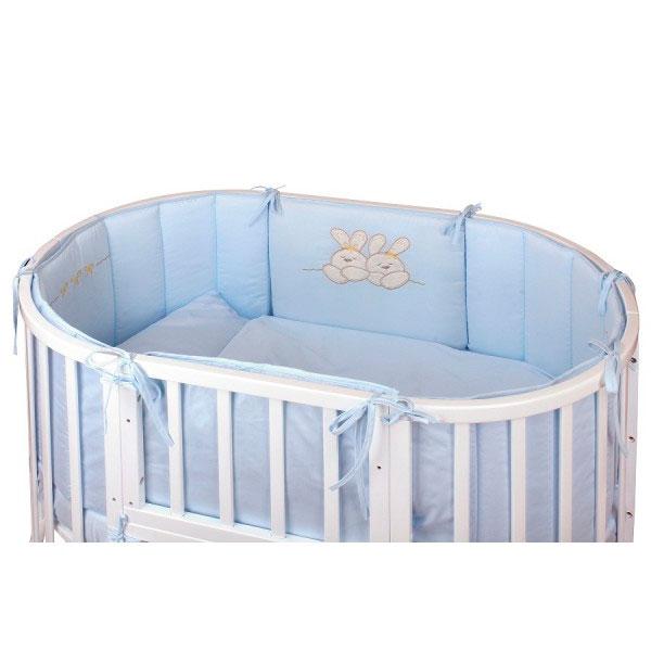 Комплект в кроватку - Leprotti, 6 предметов, голубойДетское постельное белье<br>Комплект в кроватку - Leprotti, 6 предметов, голубой<br>