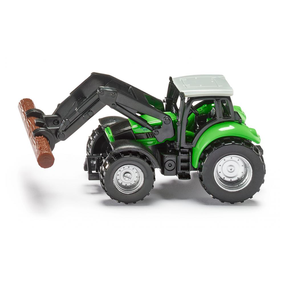 Купить Металлический трактор с захватом для бревен, Siku