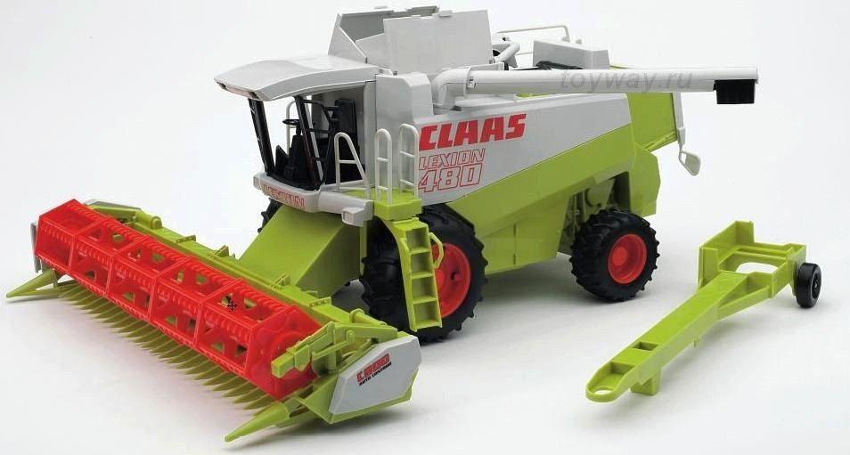 Комбайн Bruder Claas Lexion 480Тракторы и комбайны<br>Bruder комбайн<br>